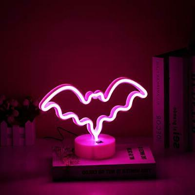 Halloween Ghost Neon LED Neon with Base Decor for