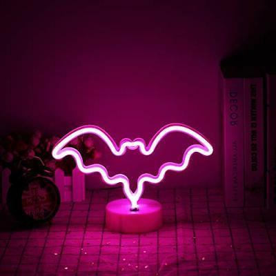 Halloween Ghost Signs LED Light with Holder Decor for