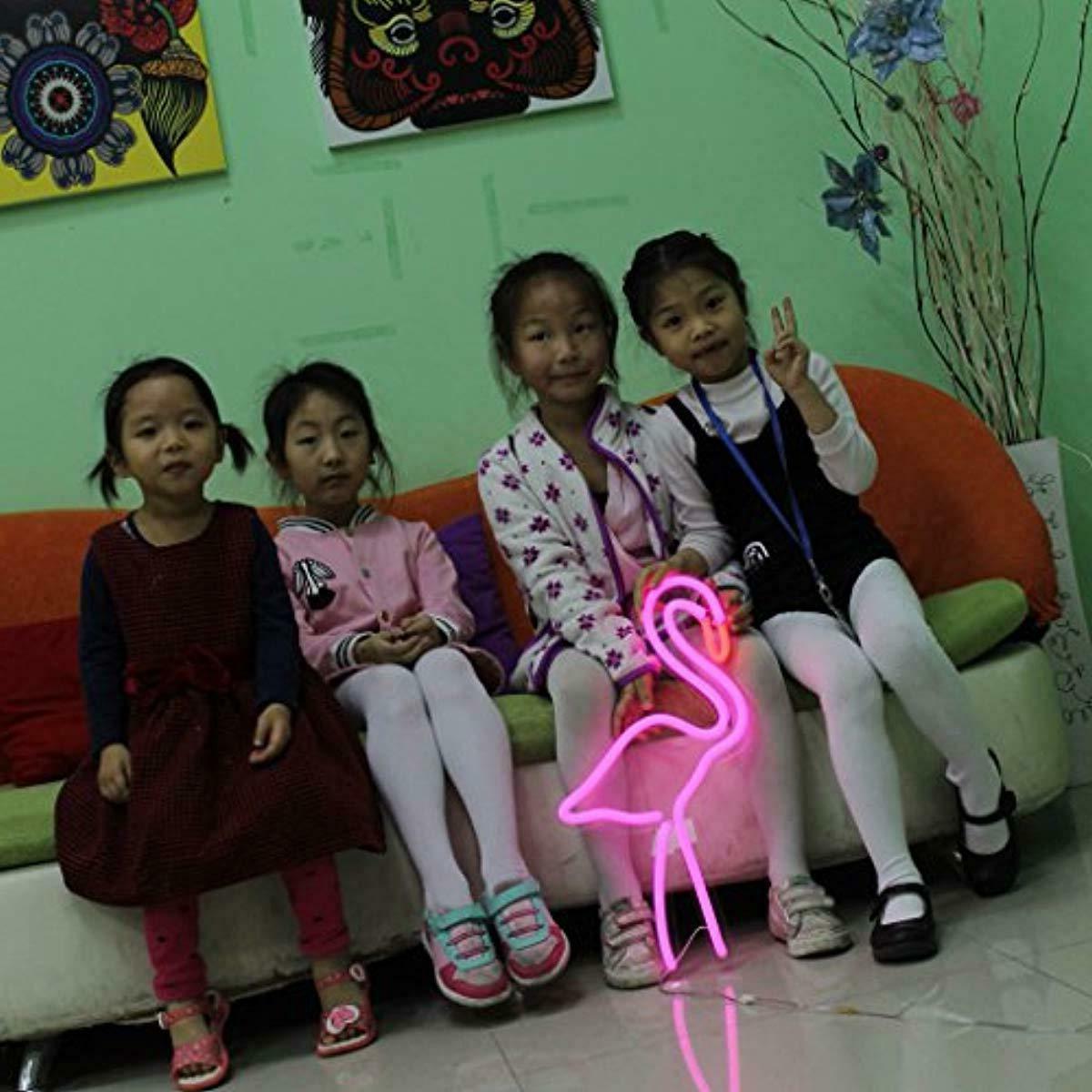 Handmade Signs,Flamingo Light Sign Remote Co