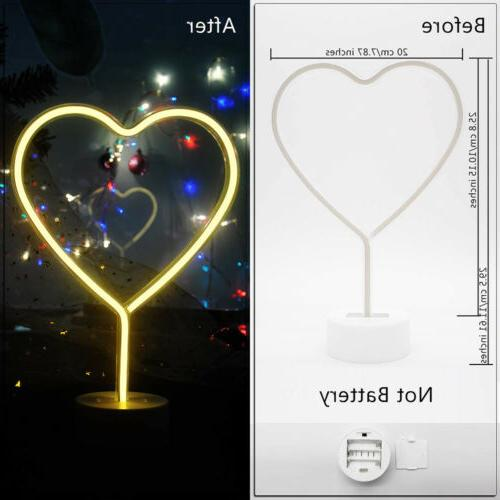 Heart Neon Lights & Powered Neon Decor for Room