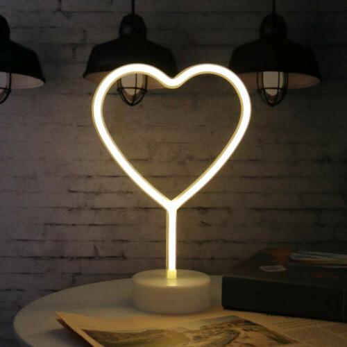 Heart Shaped Lights Powered Decor for