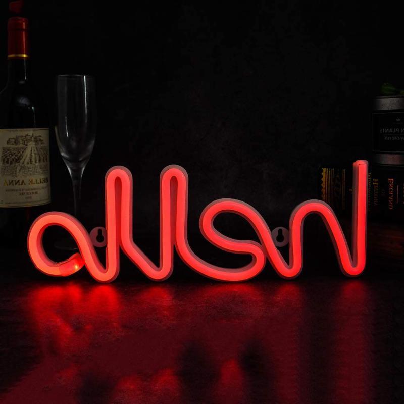 Hello Shape Neon Led Lights Words Wall Art