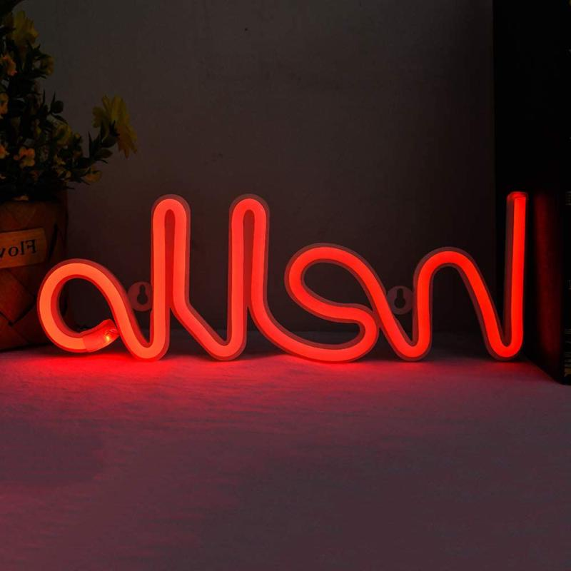 Hello Shape Neon Signs Led Letter Neon Lights Words Neon Nig