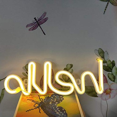LED Shape Neon Word Light Art Decorative Wall Decor Baby Room Supplies