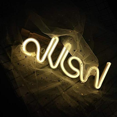 LED Word Sign Light Decorative Lights Wall Decor Baby Room Supplies