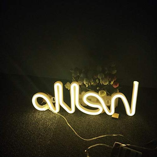 LED Word Letters Light Art Room Supplies