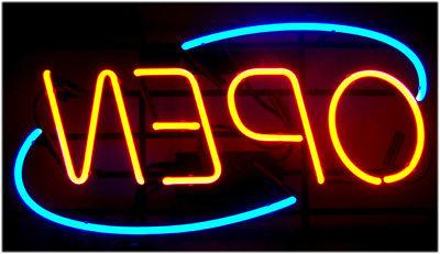 HORIZONTAL NEON OPEN SIGN / LIGHT - BIG OPEN SIGNS - RESTAUR