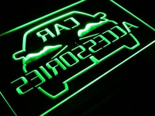 i208-b Car Accessories Shop Sign