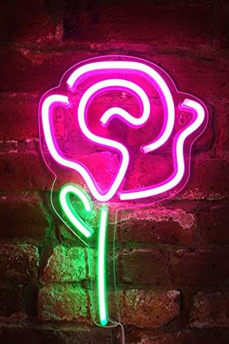 inch neon pink rose