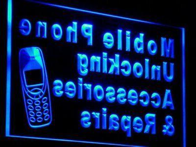 j114-r Mobile Repairs Neon Sign