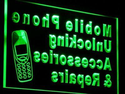 j114-g Mobile Phone Accessories Repairs Neon Light Sign