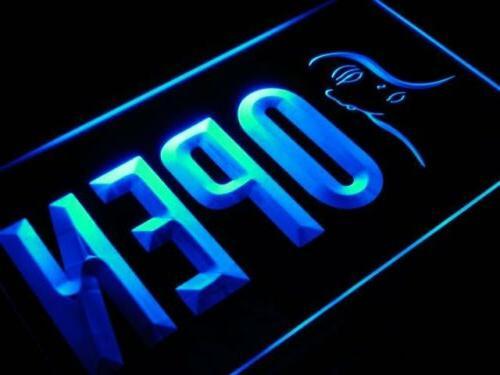 j733-b OPEN Beauty Salon Make Up Shop Neon Light Sign