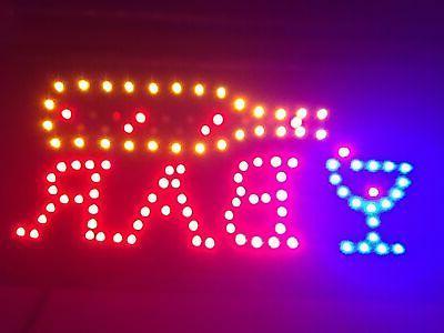 led bar sign open bar led neon