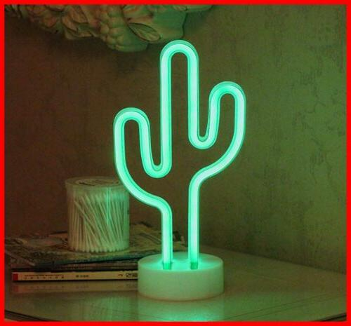 led cactus neon light sign wall decor