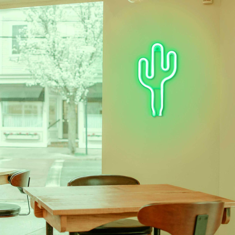 LED Cactus Wall Decor Night Lights on wall