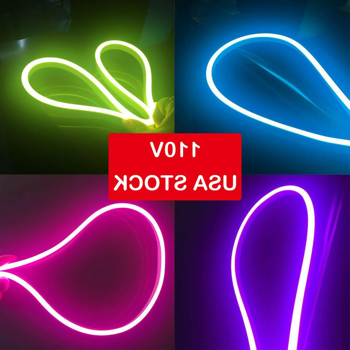 led commercial neon rope light flexible waterproof