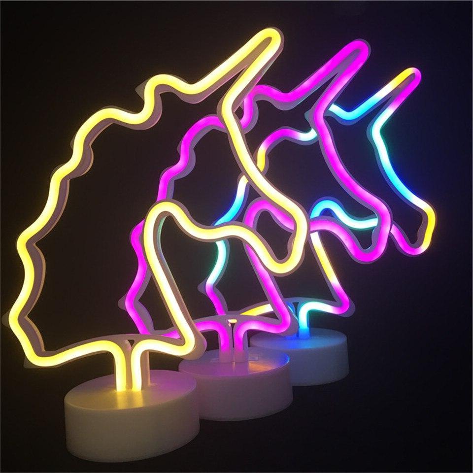 Led <font><b>Neon</b></font> <font><b>Sign</b></font> <font><b>Unicorn</b></font> <font><b>Neon</b></font> Tube Lighting Xmas Battery Lights