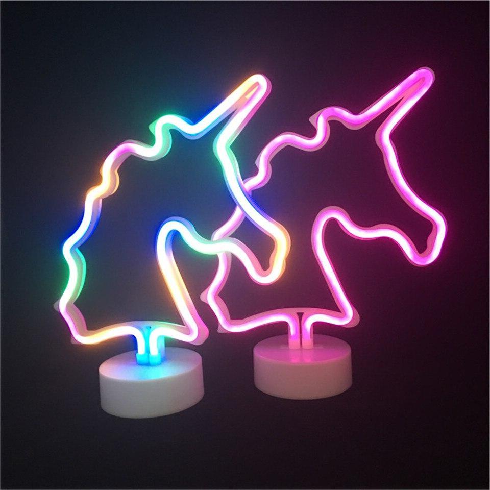 Led <font><b>Neon</b></font> <font><b>Sign</b></font> Light <font><b>Unicorn</b></font> Lighting Xmas Party Decor Battery Lights