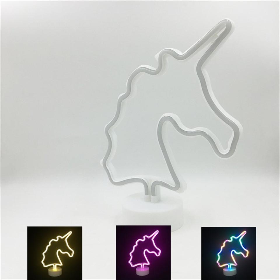 Led <font><b>Unicorn</b></font> <font><b>Neon</b></font> Lighting Party Battery Home Lights