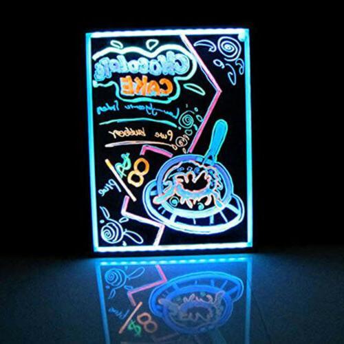 """Flashing Illuminated Erasable LED Menu 24"""""""