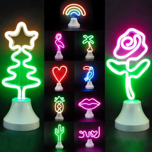 LED Neon Light Sign Wall Background Lamp Home Party Bedroom