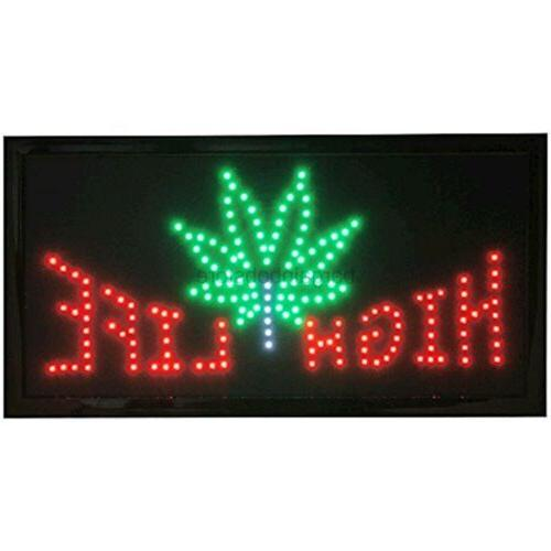 led neon sign with motion high life