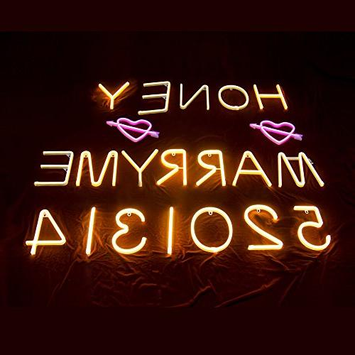Neon Letter Decorative Warm White Letter Lights Party Decor