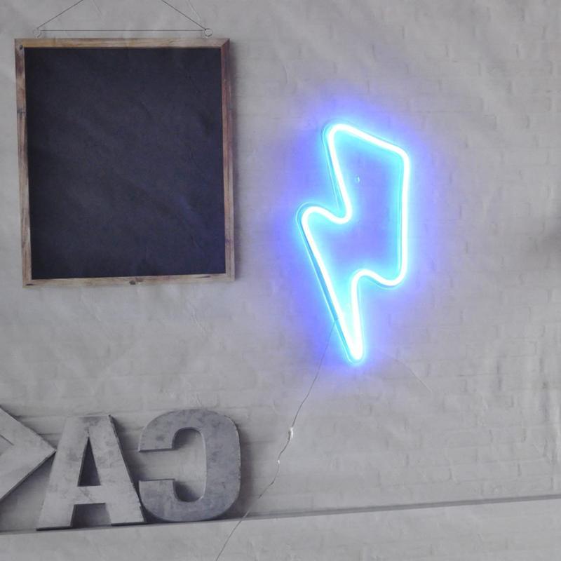 Lightning Bolt Sign Remote Control Lightning Neon Signs Handma
