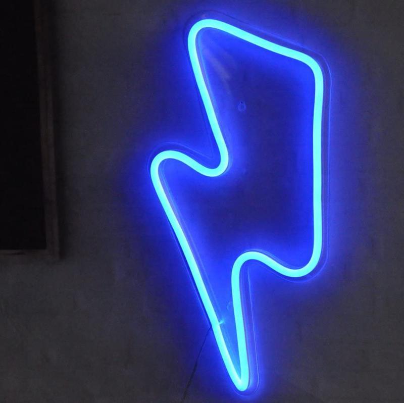 Lightning Bolt Sign Remote Control Lightning Neon Big Handma