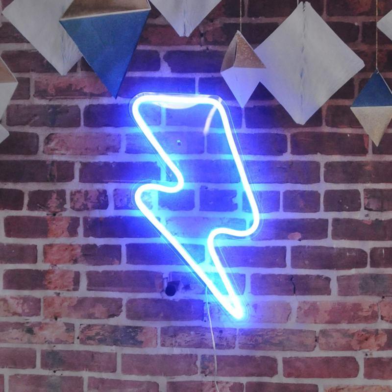 lightning bolt neon sign remote control lightning