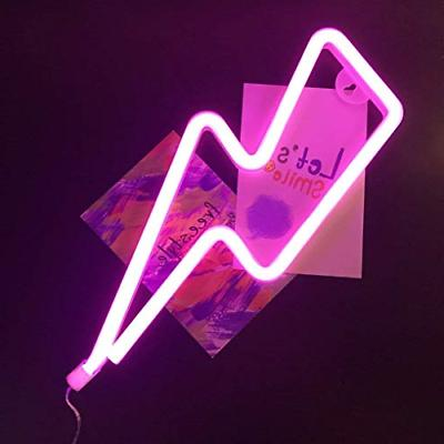 Lightning Neon Pink Shape Neon Sign