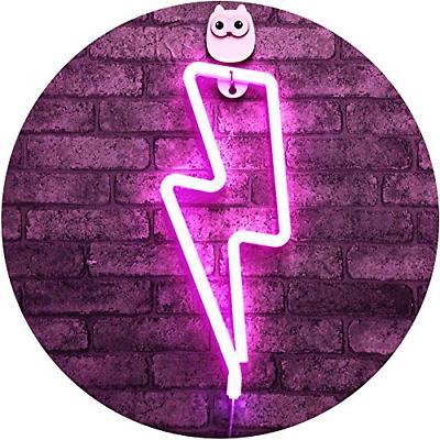 Lightning Pink Lightning Shape Neon Sign