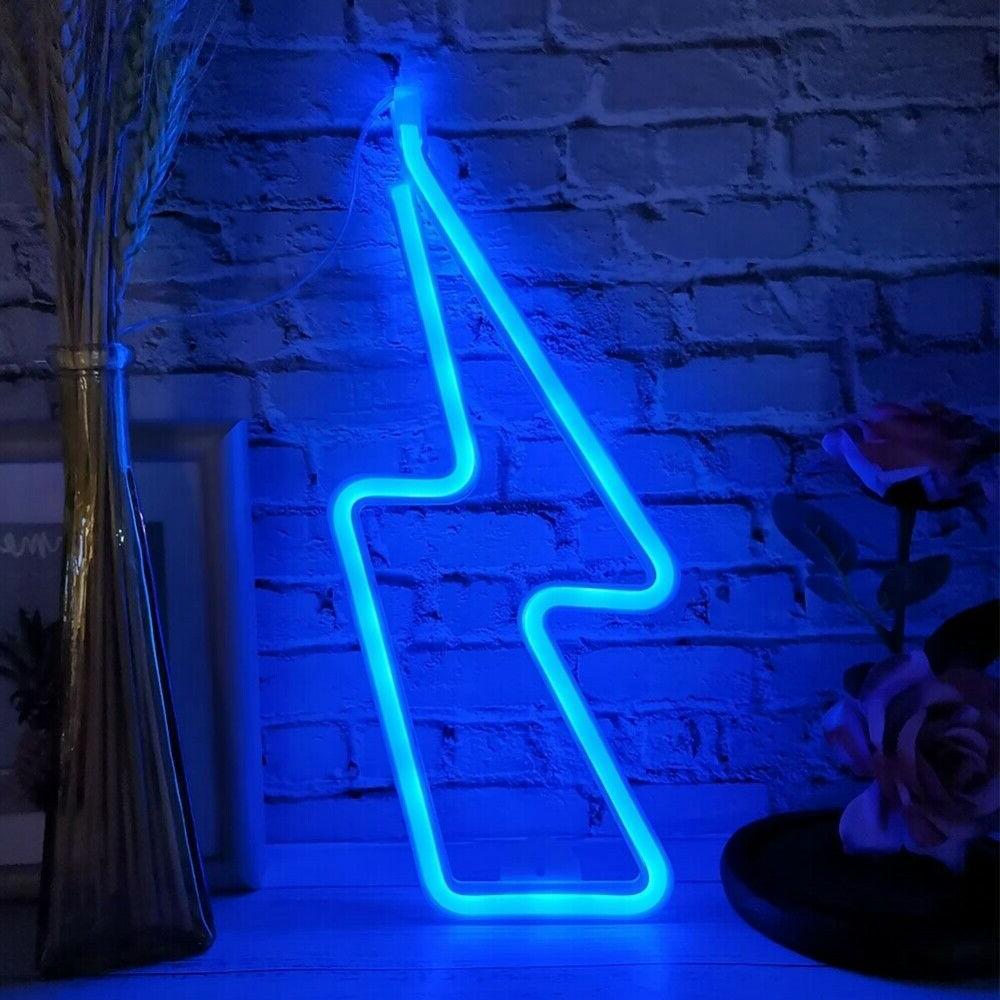 LED Neon Night Light Store Artwork Decor Blue US