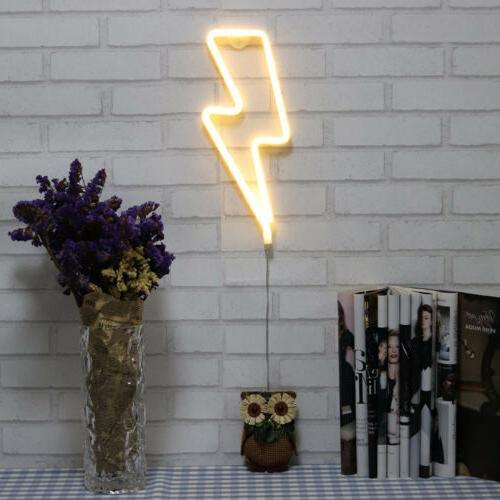 Lightning Sign Night Light USB/Battery Kids Room