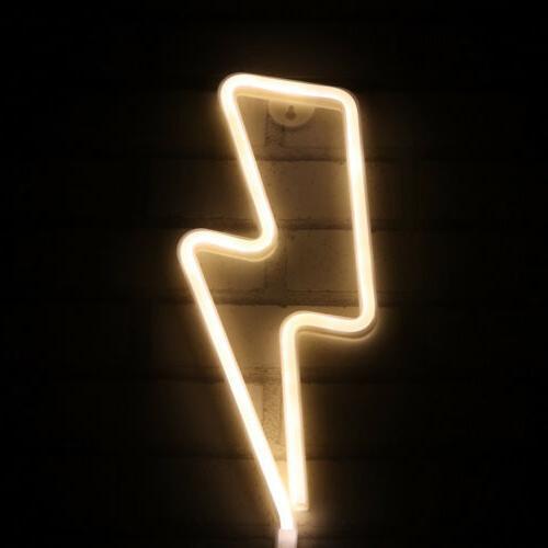 lightning neon light sign night light operated