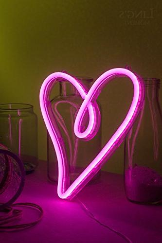 Ling S Moment Usb Battery Neon Lights Sign Decor For Bedroom Women Hawaii