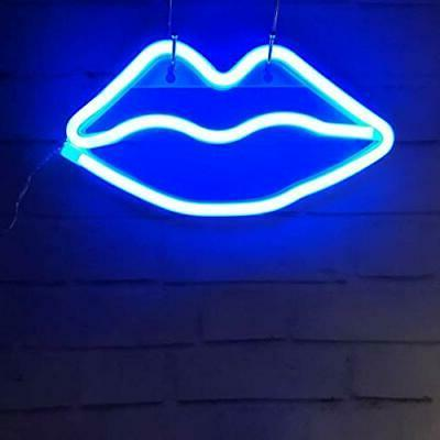 Lip Neon Signs LED Neon Sign Art Wall Lights Chris...