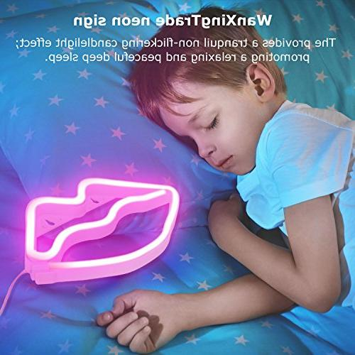 Lip Led Neon Light Art Decorative for Baby Christmas Party Decoration