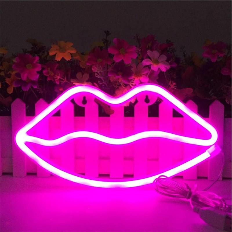 lips neon sign led neon light usb