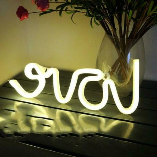 wanxing Love Signs Light LED Lights Decor