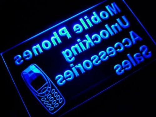 m105-b Mobile Phone Accessories Sales Neon Light Sign