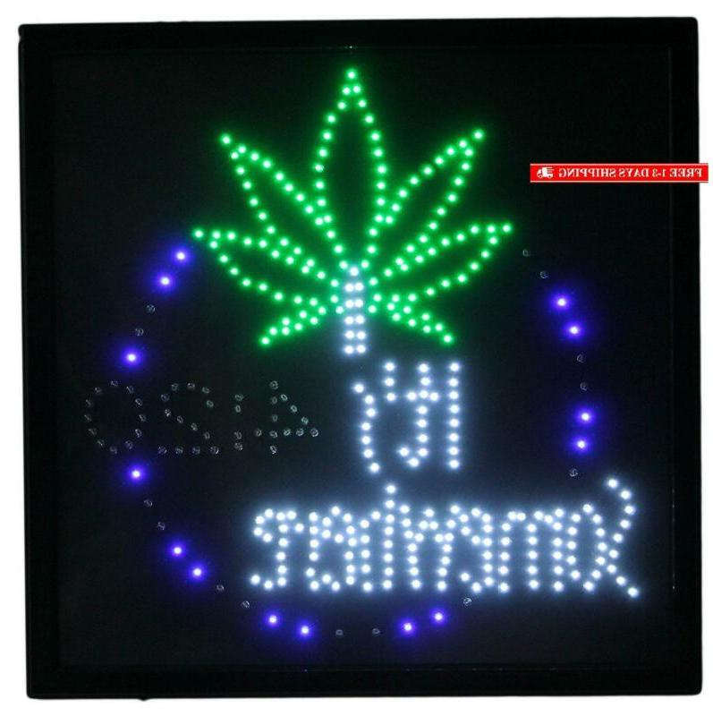 """Marijuana It'S 4:20 Somewhere Large 19"""" Motion Sign"""
