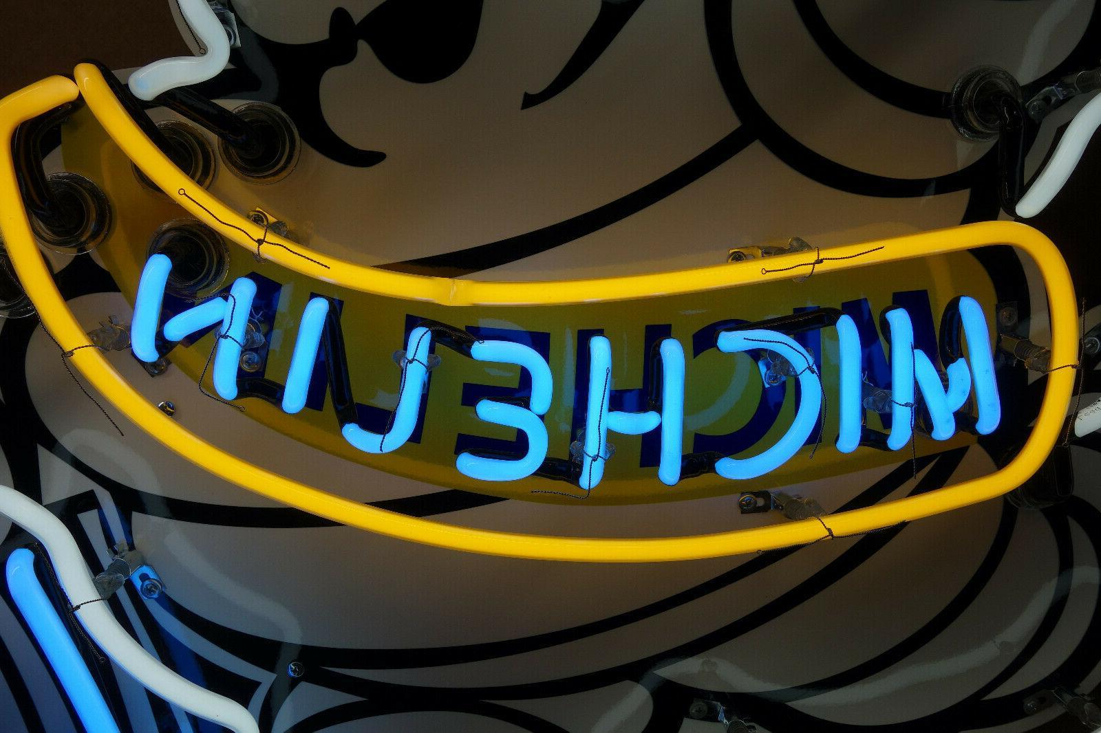 """Michelin sign. Enamel ART. HUGE 36"""" 49"""""""