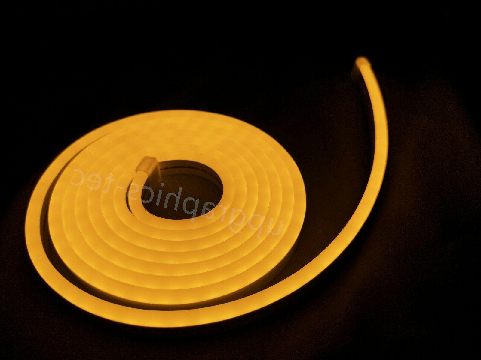 Outdoor Yellow LED Neon Rope Party Making 16ft
