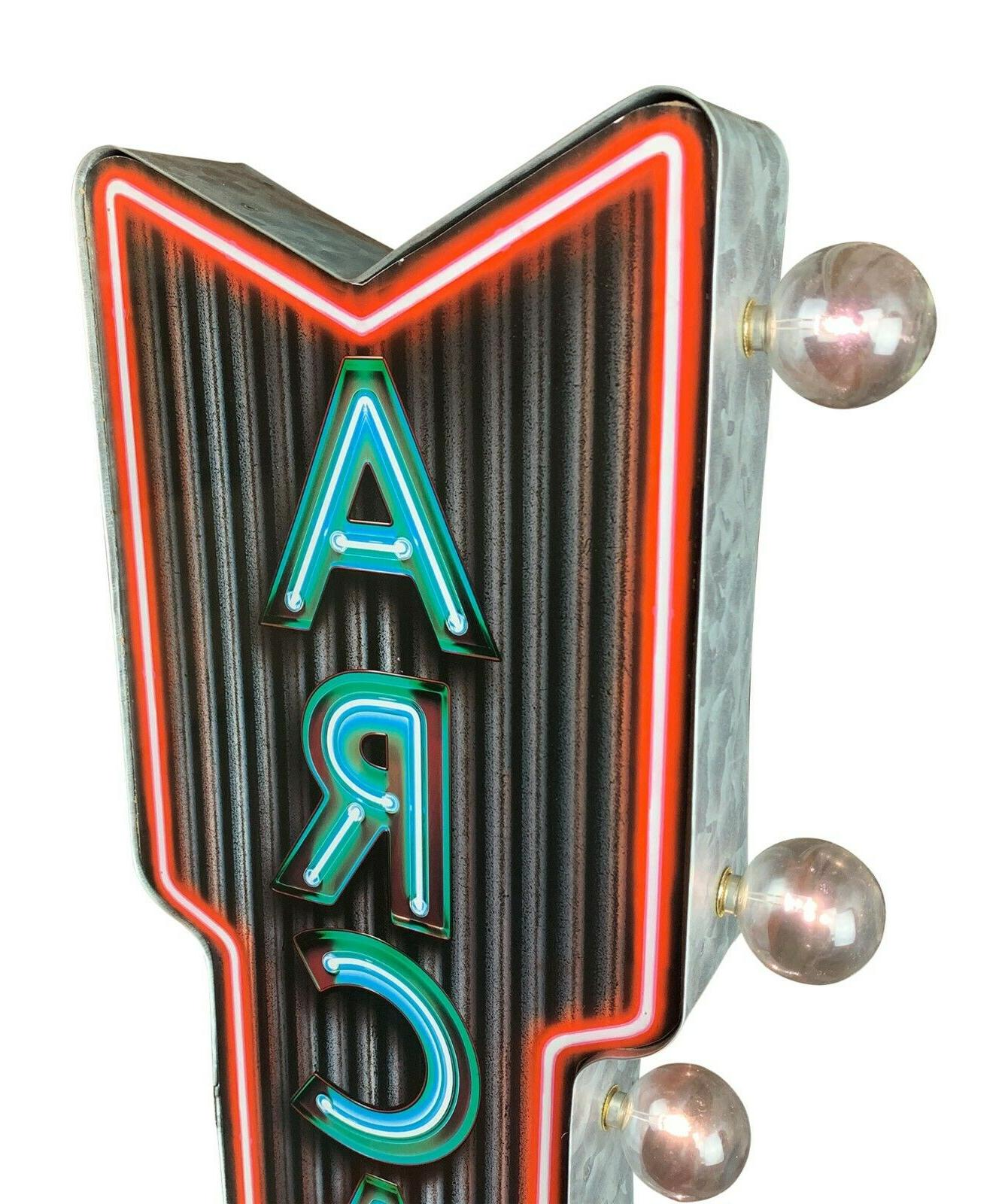 """Neon Arcade 25"""" Double Shaped, Cave & Game Room Decor"""