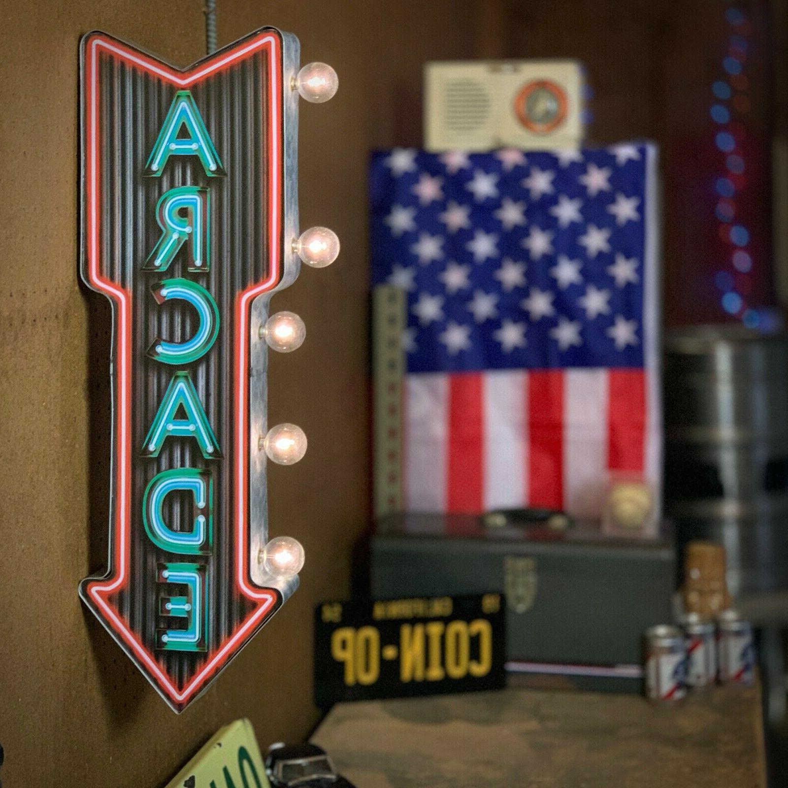 neon arcade led sign 25 double sided
