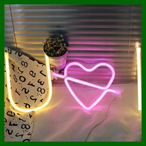 Neon Art Lights The Arrow Love LED Heart Light