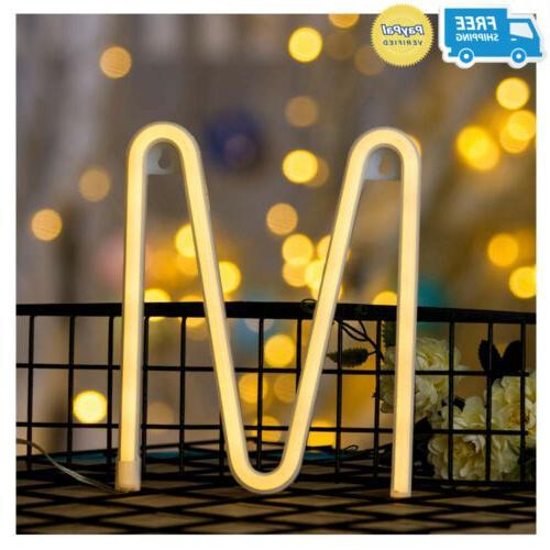 neon letter sign night lights led alphabet
