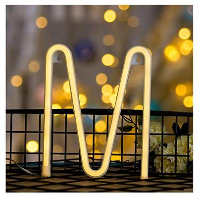 DELICORE Neon Letter Sign Night Lights LED Alphabet Neon Art