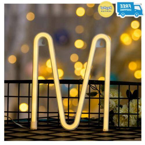 DELICORE Neon Letter Sign Night Lights LED Alphabet Art Wall